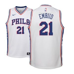 Youth Philadelphia 76ers Joel Embiid Jersey white
